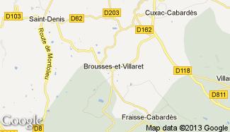 Plan de Brousses-et-Villaret