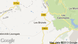 Plan de Les Brunels