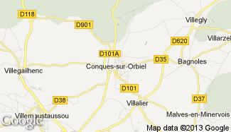 Plan de Conques-sur-Orbiel