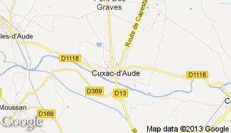 Plan de Cuxac-d'Aude