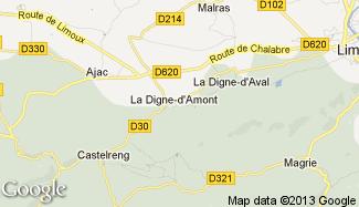 Plan de La Digne-d'Amont