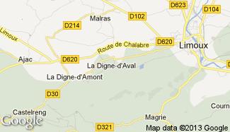Plan de La Digne-d'Aval