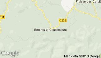 Plan de Embres-et-Castelmaure