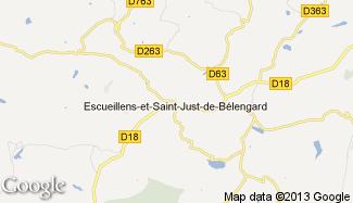 Plan de Escueillens-et-Saint-Just-de-Bélengard