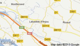 Plan de Labastide-d'Anjou