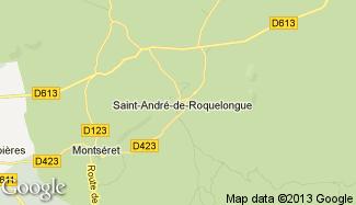 Plan de Saint-André-de-Roquelongue