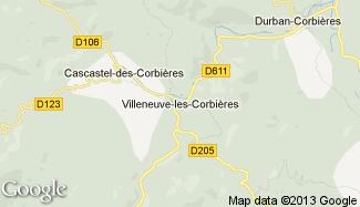 Plan de Villeneuve-les-Corbières