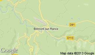 Plan de Belmont-sur-Rance