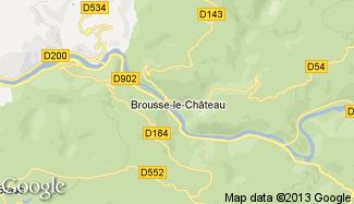 Plan de Brousse-le-Château