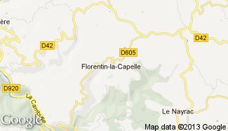 Plan de Florentin-la-Capelle