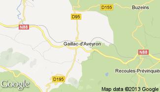 Plan de Gaillac-d'Aveyron