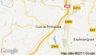 Plan de Luc-la-Primaube