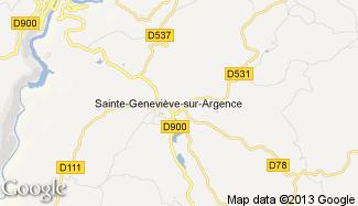 Plan de Sainte-Geneviève-sur-Argence