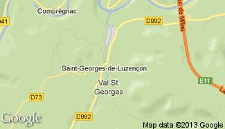 Plan de Saint-Georges-de-Luzençon