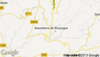 Plan de Sauveterre-de-Rouergue