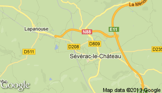 Plan de Sévérac-le-Château