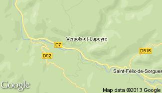 Plan de Versols-et-Lapeyre