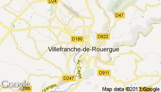Plan de Villefranche-de-Rouergue