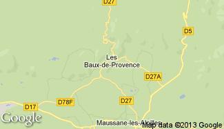 Plan de Les Baux-de-Provence