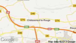 Plan de Châteauneuf-le-Rouge