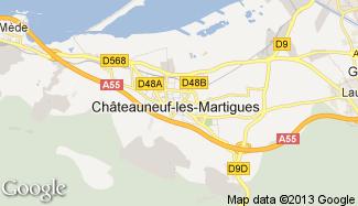 Plan de Châteauneuf-les-Martigues
