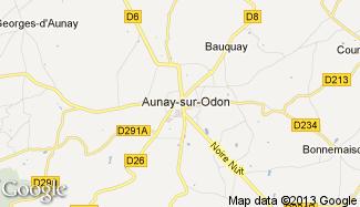 Plan de Aunay-sur-Odon