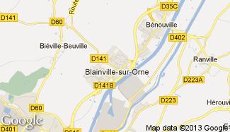 Plan de Blainville-sur-Orne