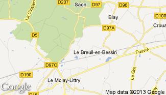 Plan de Le Breuil-en-Bessin