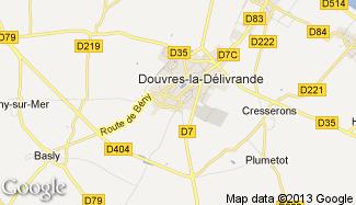 Plan de Douvres-la-Délivrande