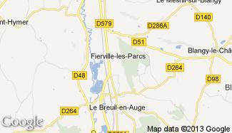 Plan de Fierville-les-Parcs