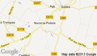 Plan de Noron-la-Poterie