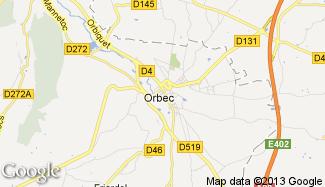 Plan de Orbec