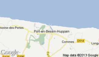 Plan de Port-en-Bessin-Huppain