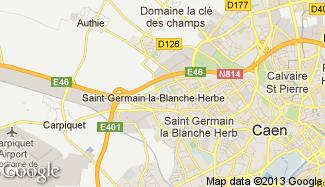 Plan de Saint-Germain-la-Blanche-Herbe