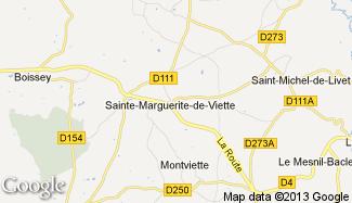 Plan de Sainte-Marguerite-de-Viette