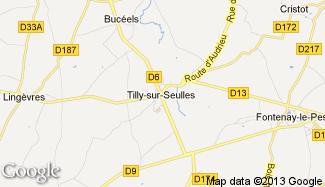 Plan de Tilly-sur-Seulles