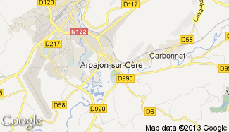 Plan de Arpajon-sur-Cère