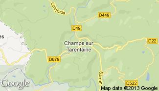 Plan de Champs-sur-Tarentaine-Marchal