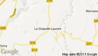Plan de La Chapelle-Laurent