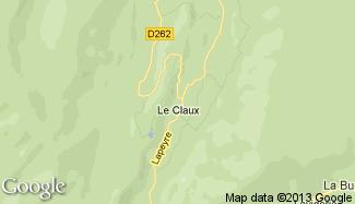 Plan de Le Claux