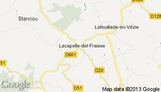 Plan de Lacapelle-del-Fraisse
