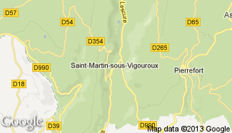 Plan de Saint-Martin-sous-Vigouroux