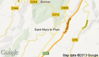 Plan de Saint-Mary-le-Plain