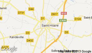 Plan de Barbezieux-Saint-Hilaire