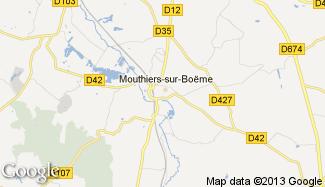 Plan de Mouthiers-sur-Boëme