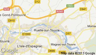Plan de Ruelle-sur-Touvre