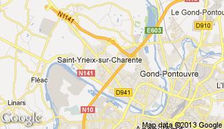 Plan de Saint-Yrieix-sur-Charente