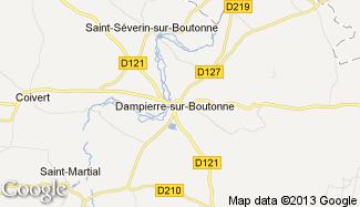 Plan de Dampierre-sur-Boutonne