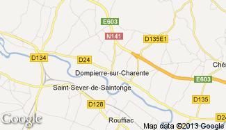 Plan de Dompierre-sur-Charente