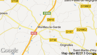 Plan de Montlieu-la-Garde